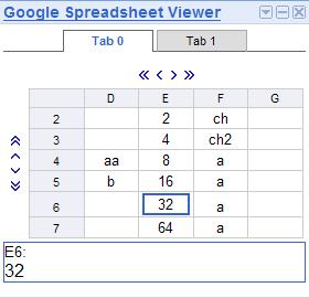 Google Spreadsheet Viewer screenshot