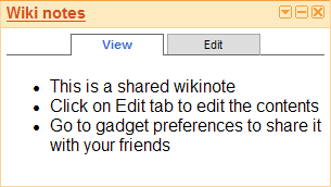 wikinotes gadget screenshot